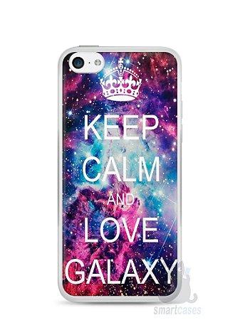 Capa Iphone 5C Keep Calm and Love Galaxy