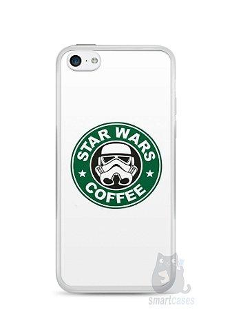 Capa Iphone 5C Star Wars Coffee
