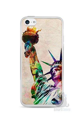 Capa Iphone 5C Estátua da Liberdade Colorida