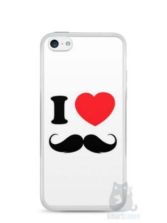 Capa Iphone 5C I Love Bigode #1