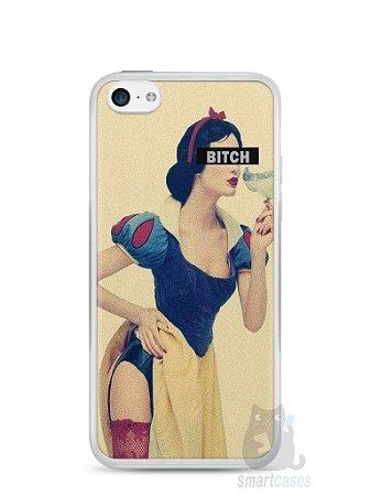 Capa Iphone 5C Branca de Neve Bitch