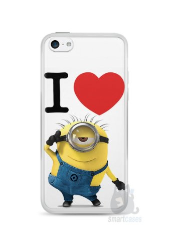 Capa Iphone 5C I Love Minions