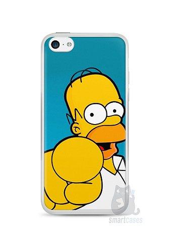 """Capa Iphone 5C Homer Simpson """"Escolho Você"""""""
