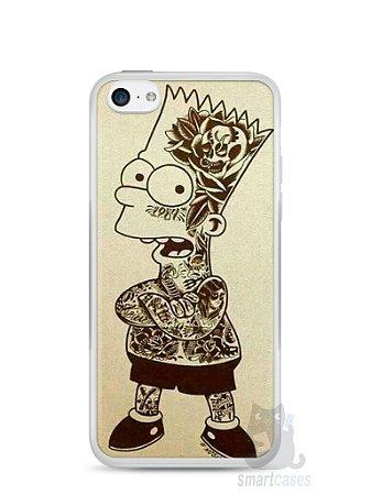 Capa Iphone 5C Bart Simpson Tatuado