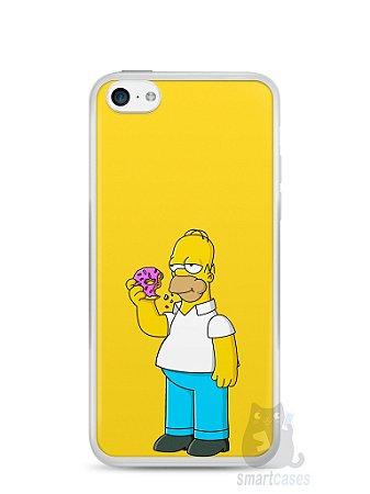 Capa Iphone 5C Homer Simpson Comendo Donut