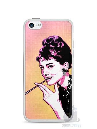 Capa Iphone 5C Audrey Hepburn #2