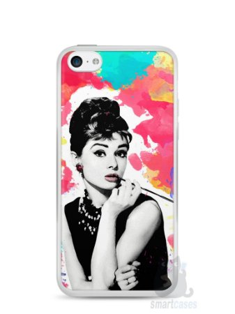 Capa Iphone 5C Audrey Hepburn #5