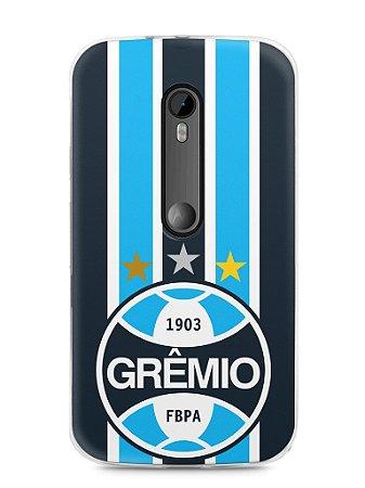 Capa Moto G3 Time Grêmio
