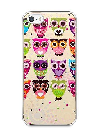 Capa Iphone 5/S Corujas Coloridas