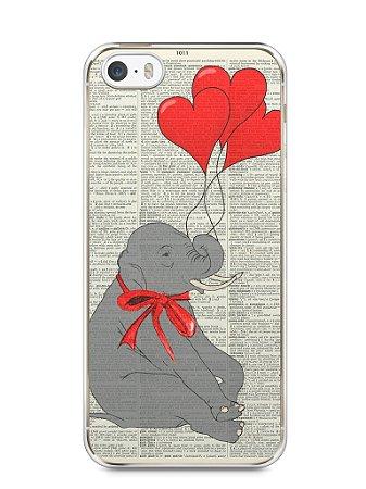 Capa Iphone 5/S Elefante e Corações