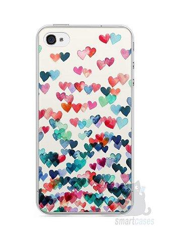 Capa Iphone 4/S Corações Coloridos
