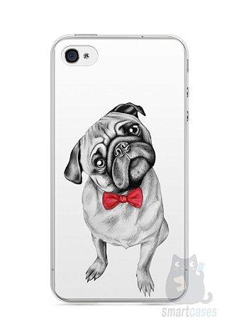 Capa Iphone 4/S Cachorro Pug Estiloso #2