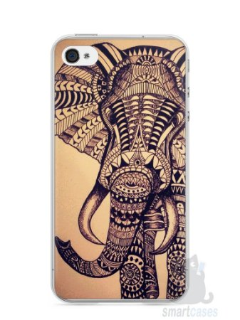 Capa Iphone 4/S Elefante Tribal