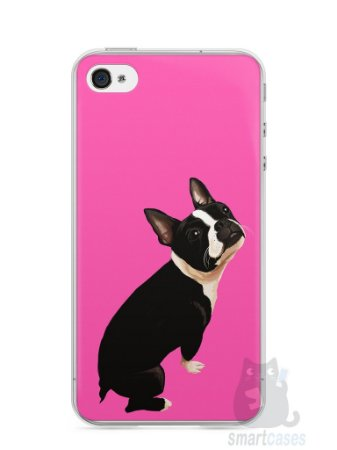 Capa Iphone 4/S Cachorro Boston Terrier
