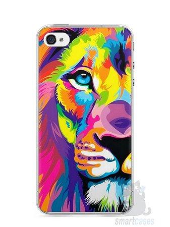 Capa Iphone 4/S Leão Colorido #1