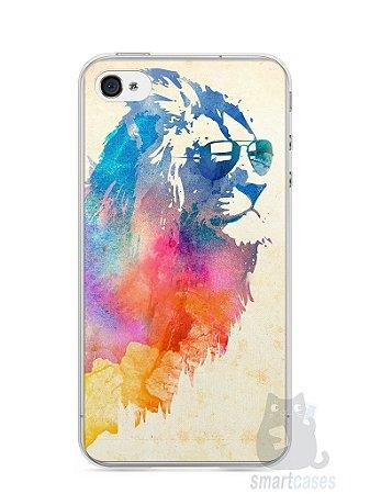 Capa Iphone 4/S Leão Colorido #2