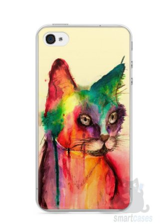 Capa Iphone 4/S Gato Pintura