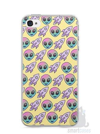 Capa Iphone 4/S Aliens e Foguetes