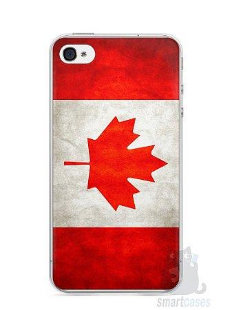 Capa Iphone 4/S Bandeira do Canadá