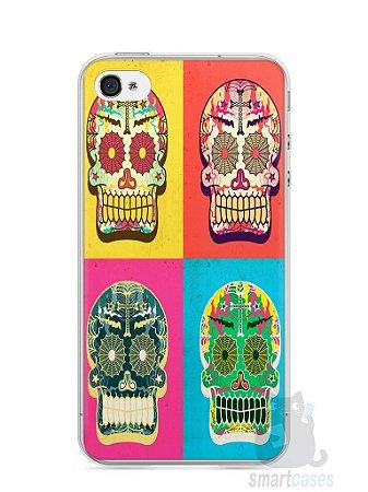 Capa Iphone 4/S Caveiras Coloridas