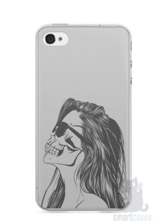 Capa Iphone 4/S Mulher Caveira