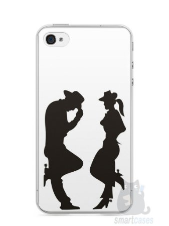 Capa Iphone 4/S Cowboy e Cowgirl