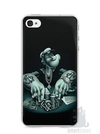 Capa Iphone 4/S Popeye Jogando Poker
