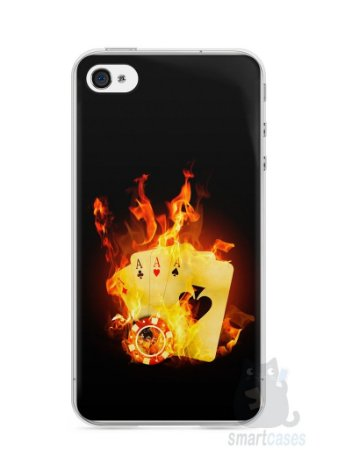 Capa Iphone 4/S Poker #1