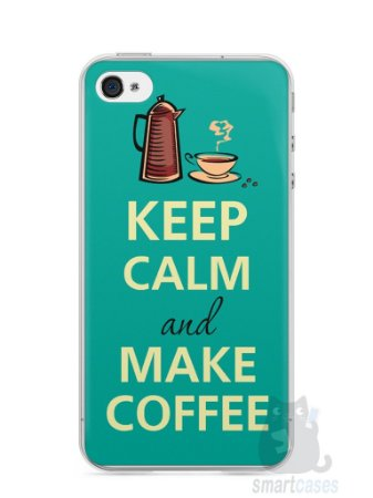 Capa Iphone 4/S Keep Calm and Make Coffee