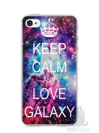 Capa Iphone 4/S Keep Calm and Love Galaxy