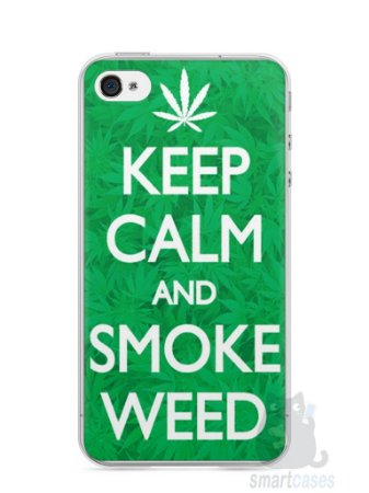 Capa Iphone 4/S Keep Calm and Smoke Weed