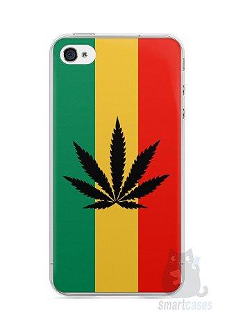 Capa Iphone 4/S Rasta Weed #2