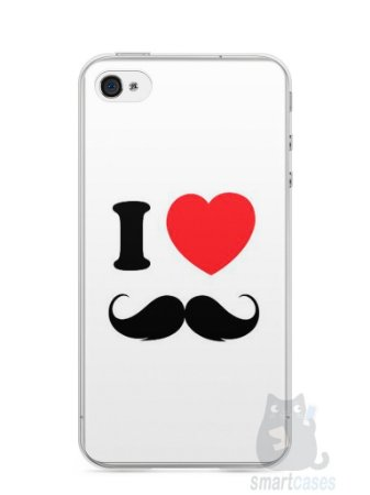 Capa Iphone 4/S I Love Bigode #1
