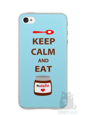 Capa Iphone 4/S Keep Calm and Eat Nutella
