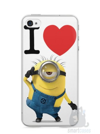 Capa Iphone 4/S I Love Minions