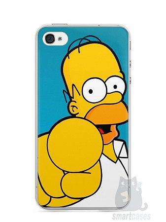 """Capa Iphone 4/S Homer Simpson """"Escolho Você"""""""
