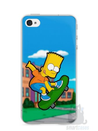 Capa Iphone 4/S Bart Simpson Skate