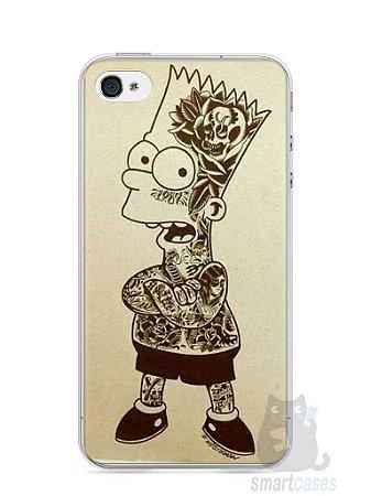 Capa Iphone 4/S Bart Simpson Tatuado