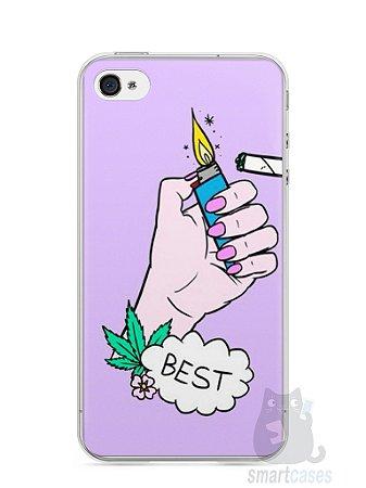 Capa Iphone 4/S Melhores Amigos Fumando