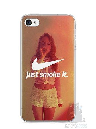 Capa Iphone 4/S Just Smoke It