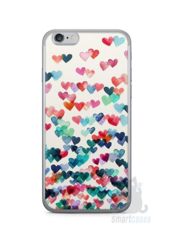 Capa Iphone 6/S Corações Coloridos