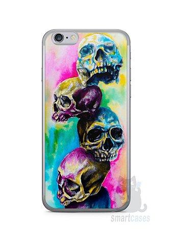 Capa Iphone 6/S Caveiras Coloridas Pintura