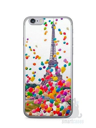 Capa Iphone 6/S Torre Eiffel e Balões