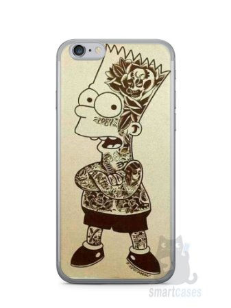 Capa Iphone 6/S Bart Simpson Tatuado