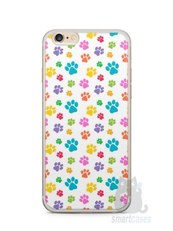 Capa Iphone 6/S Plus Patinhas Coloridas #1