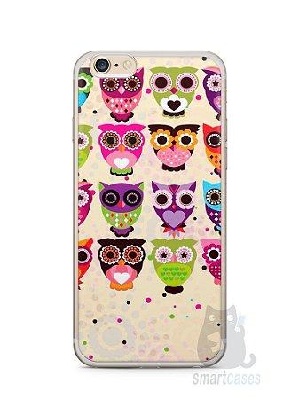 Capa Iphone 6/S Plus Corujas Coloridas