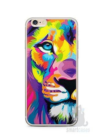 Capa Iphone 6/S Plus Leão Colorido #1