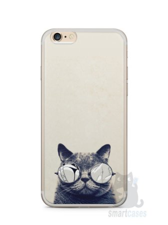 Capa Iphone 6/S Plus Gato Com Óculos