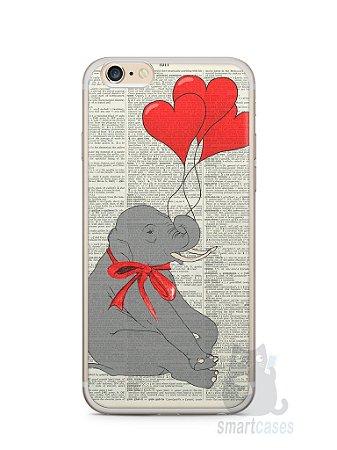 Capa Iphone 6/S Plus Elefante e Corações