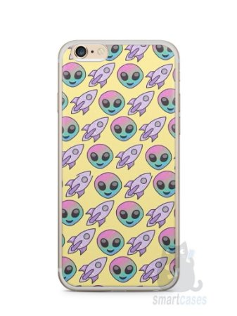 Capa Iphone 6/S Plus Aliens e Foguetes